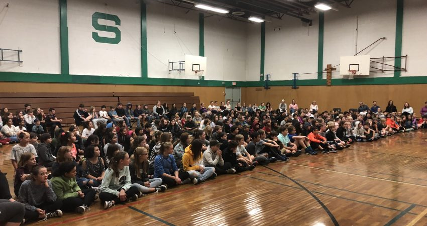All-school assembly!