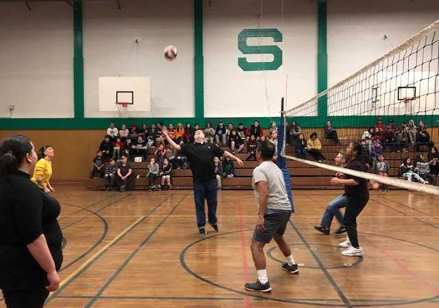 Staff vs Student Volleyball fun!